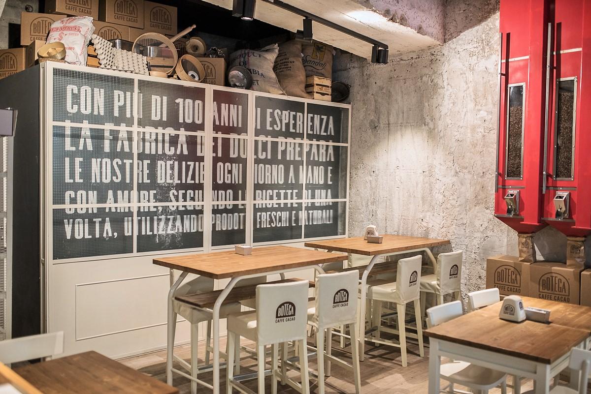 Botega caffè cacao da un antico laboratorio amore a prima vista
